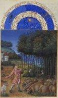 Monat November mit Sternzeichen aus dem Stundenbuch des Herzogs von Berry